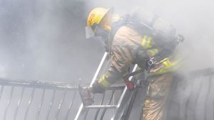 COBOURG -- Firefighters battled a blaze at a Monk Street home on July 2. The three residents escaped the home but two were sent to hospital for smoke inhalation. July 2, 2015.